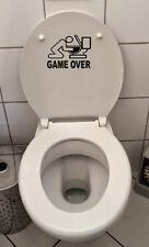 Klo Deckel Sticker Toiletten Aufkleber Fun wand tattoo WC Bad Game over Decal