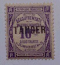 "FRENCH MOROCCO SCOTT J43-1918 POSTAGE DUE-""TANGER"" OVERPRINT-MINT/H/ORIGINAL GUM"