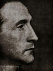 1930/75 Vintage MAN RAY Solarized MARCEL DUCHAMP Artist Portrait Photo Art 11x14