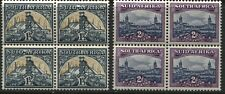 South Africa 1941 1 1/2d and 1950 2d blocks of 4 mint o.g. hinged