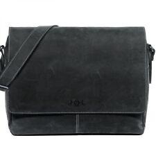 SID & VAIN Messenger Bag Büffel-Leder Umhängetasche Herren Tasche schwarz