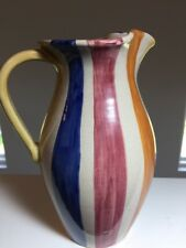 """Maryse Boxer Designs Striped Pitcher Dezuta Italy Signed Numbered 9"""""""