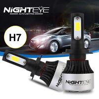 2x Nighteye H7 9000LM Car LED Headlight Single Beam Bulbs 6500K White Lamp 72W
