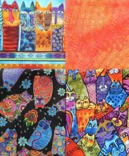 Laurel Burch-Feline Frolic-Four Fat Quarters(B)