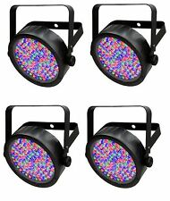(4) Chauvet SlimPar 56 LED DMX Slim Par Can Stage Pro DJ RGB Lighting Effects