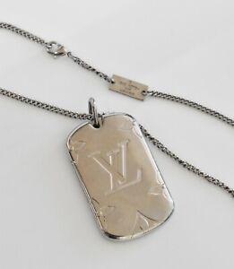 """LOUIS VUITTON Locket Necklace Pendant Monogram M62484 27.5"""""""