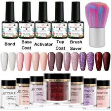 13Pcs/set MEET ACROSS Nail Dipping Powder Set Dip Liquid Brush Nail Kits