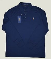 New M L XL XXL Mens Polo Ralph Lauren Men's Blue Long Sleeve Classic Fit Shirt