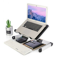 Folding Laptop Table Adjustable Notebook Stand Tables Protable Lap Desk Bed Sofa