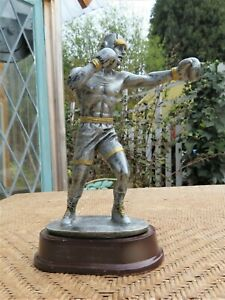 Vintage Style Boxing Trophy Man Male Metal