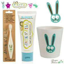 Jack n Jill Toothbrush + Toothpaste + Rinse Cup - Bunny