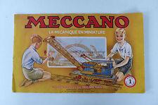 MECCANO  MANUEL D'INSTRUCTION  N°1    1954