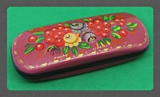 New hard case for glasses. Hand-painted.Russian souvenir. # V-23