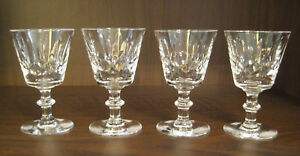 "NELSON CLAPPERTON CRYSTAL Liqueur, Cordial, Poss Port or Sherry 4"", SET of FOUR"
