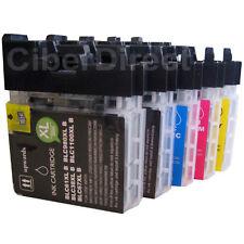 5 compatible BROTHER LC-1100 BK/C/M/Y printer ink cartridges - VAT INVOICE.