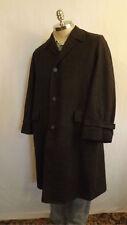 Vtg J.C. Penny's Gentry Houndstooth Over/Top Coat Wool size Med 1950's