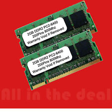 4GB Kit 2x 2GB DDR2 800 MHz PC2-6400 200 pin Sodimm Laptop Memory RAM DELL HP