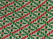 VTG CHRISTMAS HOLLY DEPARTMENT STORE WRAPPING PAPER 25 FEET GIFT WRAP
