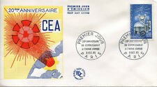 FRANCE FDC - 554 1462 1 ANNIV. COMMISSARIAT ENERGIE ATOMIQUE - 9 Octobre 1965