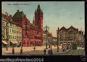 SWITZERLAND 30-BASEL -1927 Marktplatz mit Rathaus