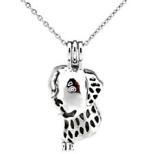 Pet Puppy Dog Pearl Cage Locket Necklace Kid's Girl Gift -K400