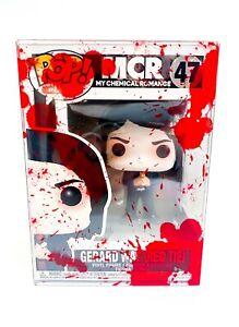 My Chemical Romance Gerard Way (Red Tie) Funko Pop 47 + Blood Splatter Protector