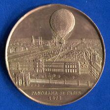 C1  Medaille CUIVRE Henry GIFFARD Ascension BALLON CAPTIF Paris 1878 51 mm 50 gr