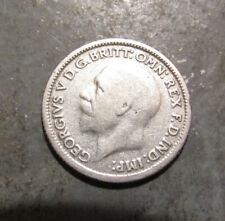 1928 Silver Great Britain Sixpence