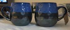 (2) La Rochelle Handmade Stoneware Metallic Multi-Color Coffee/Tea Mug 18oz J