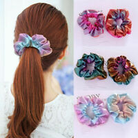 Women Colorful Hair Scrunchie Ponytail Holder Hair Accessories Elastic Hair Band