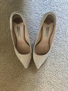 Tony Bianco Nude Heels, 7, Suede Leather