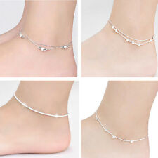 Plated Anklet Foot Jewelry Chain Beach Fashion Cute Ankle Bracelet Women Silver