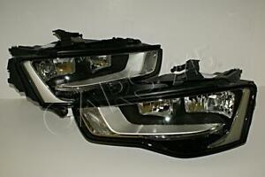 Audi A5 (8T3) Facelift Halogen Headlights Front Lamps Left+Right Pair OEM 2012-