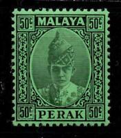 MALAYA-PERAK  1938 50c BLACK/EMERALD (SG 118)   LMM