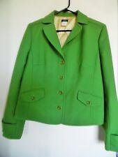 J. Crew Women's  Blazer Green  Wool Nylon Blend Lined Sz L