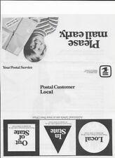 1973 Postal Service Christmas Mailing Instructions Brochure (PS Notice 61)