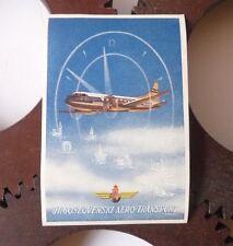 Etiquette Bagage Cie Aérienne Air Yugoslavia Luggage Label Circa 1945-1950