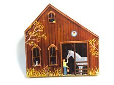 AMISH FOLK ART -  ACRYLIC ON WOOD COUNTRY LIFE IN OHIO BY HERRICK - 1