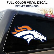 "Denver Broncos Window Decal Graphic Sticker Car Truck SUV - 12"" wide"