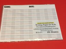 Writing Paper for Kids -  Lined Handwriting Practice w/ Gray Blocks