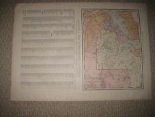 HUGE FOLIO SIZE ANTIQUE 1898 ABYSSINIA ERITREA SUDAN SOMALIA AFRICA MAP SUPERB N