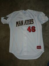 2016 Brevard County Manatees Game Used Jersey #46 Jon Perrin Milwaukee Brewers