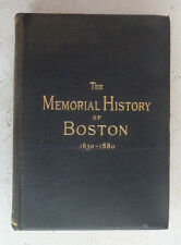 Memorial History of Boston Vol IV Justin Winsor 1881 Nineteenth Century Arts