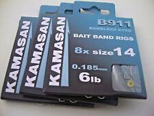 Kamasan B911 Banded Hair Barbless Bait Band Rigs Hooks Nylon Pellet Pole Fishing