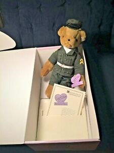 Disney Annette Funicello Military Bear All Tags 1728/2500Collectible Retired LE