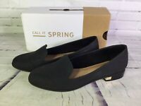 Call It Spring Womens Size 10 Dweidia Casual Fabric Loafers Flats Shoes Black