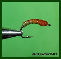 13 ct 1 dozen EGG Sucking Minnow Wet Flies Fly Fishing Flexi Floss ΙΧΘΥΣ USA