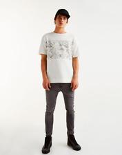Pull and Bear Men's Printed Sweatshirt Fabric T-shirt BNWT Size M