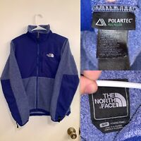 The North Face Jacket Womens Size S Blue Fleece Full Zip Long Sleeve Collared