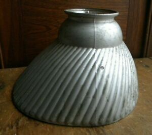 Antique Mercury Glass  Reflective Lamp Shade Industrial Medical Style